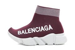 Balenciaga 169 children's shoes wine red 25-35
