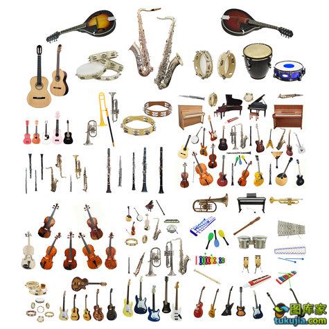 乐器 吉他 小提琴 古典乐器 萨克斯 西洋乐器 架子鼓 打击乐器 JPG548