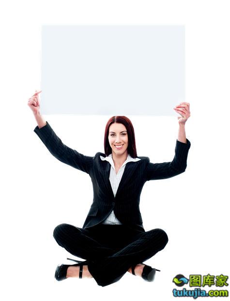 人物素材 外国人 商务人士 白领 广告板 白板 广告牌 人物图片 JPG838