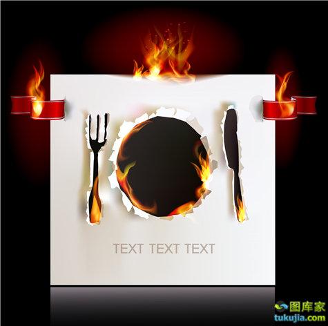 餐饮广告 餐饮设计 西餐厅广告 豪华餐厅 西餐餐具 高档餐具 豪华餐具 JPG852