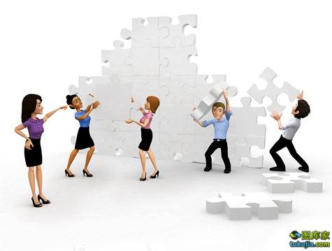 商务素材 商务图片 商务合作 商业成功 商业合作 拼图 团队合作 JPG857