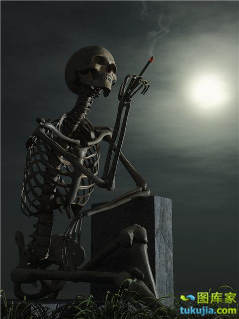 骷髅 skull 头骨 恐怖 危险 骷髅图案 骨骼 人体骨骼 脊柱 JPG947