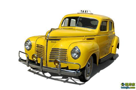 出租车 TAXI 出租车顶灯 黄色出租车 交通标志 出租车标志 JPG955
