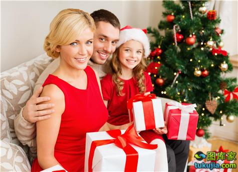圣诞节 圣诞帽 圣诞老人 圣诞礼物 过圣诞 家庭圣诞 圣诞团聚 JPG996
