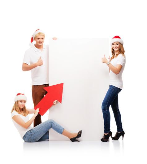 圣诞广告 圣诞海报 白板 广告板 告示板 公告板 广告栏 圣诞节 JPG1001