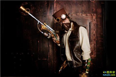 蒸汽时代 朋克时代 蒸汽朋克 工业时代 工业革命 机械时代 科幻 美女 女朋克 JPG1176