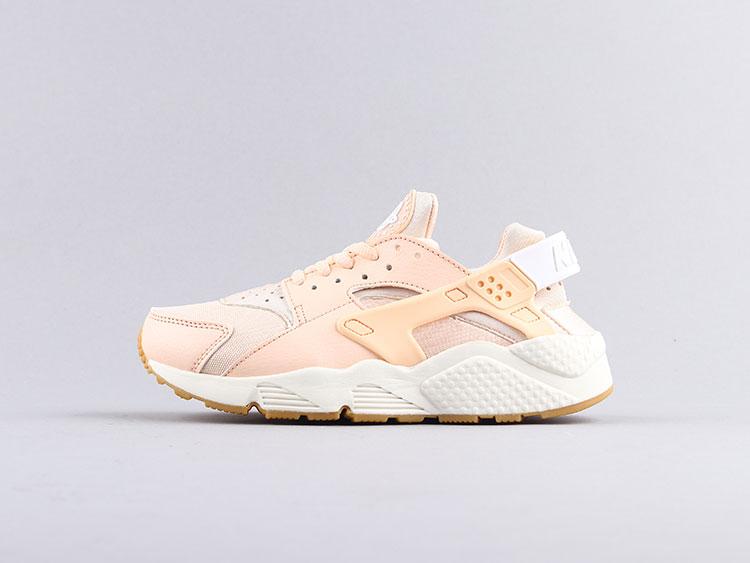 Nike air huarache 华莱士一代 樱花粉Run Premium 634835-607 跑步鞋