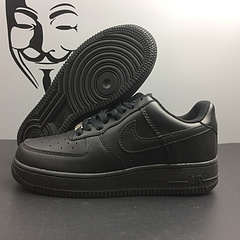 qq红包秒抢软件空军一号 NIKE AIR FORCE 1 经典板鞋 真标头层高品质 黑色低帮 尺码:36-45