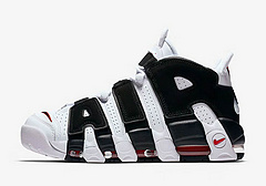 已上市!Nike Air more uptempo皮蓬 414962-105(白/黑)36--45有半码