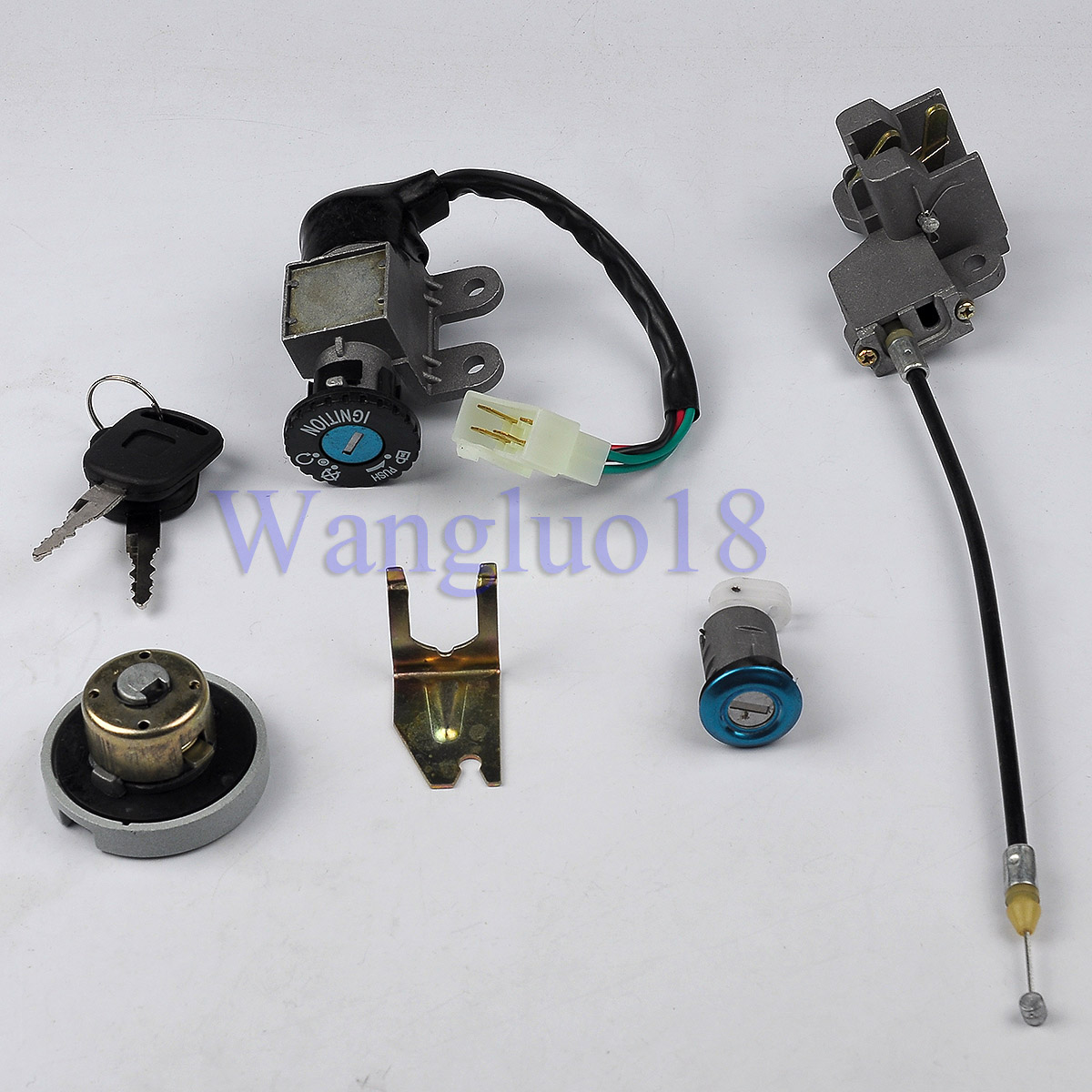 ignition switch key set for 139qmb 50cc chinese scooter. Black Bedroom Furniture Sets. Home Design Ideas