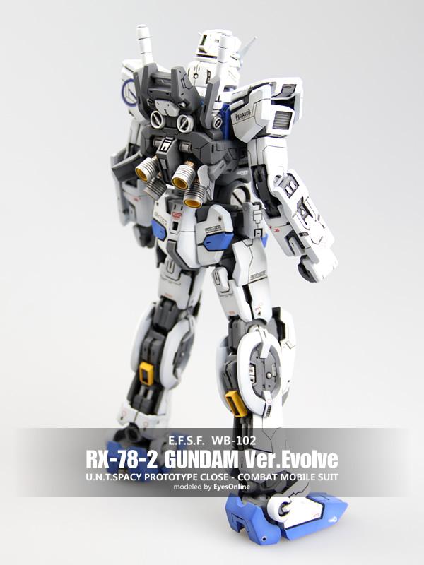 人作品 异类的元祖高达 GUNDAM RX 78 2 Ver.Evolve