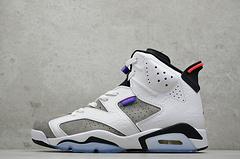 纯原 Air Jordan 6「Flint」灰紫 燧石 C31250-100  尺码: 40 40.5 41 42 42.5 43 44 44.5 45 46