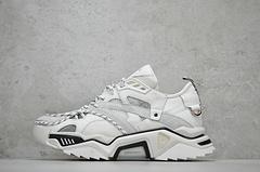 卡尔文·克莱恩 Calvin Klein 205W39NYC Strike 205 Sneakers 登山极限 绑带风 复古厚底锯齿老爹鞋 白色  尺码:35-45