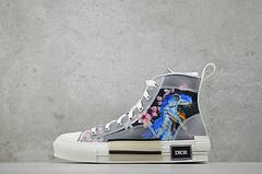 迪奥 Dior B23 Oblique High Top Sneakers透明印花 「机械恐龙粉樱花」 尺码:35-44