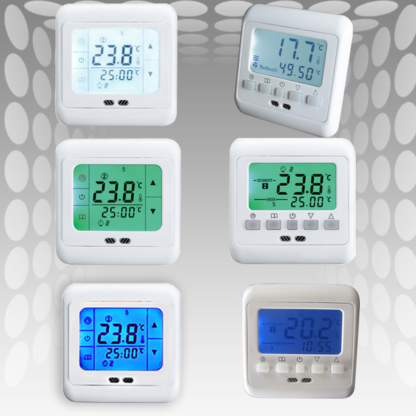 digital raumthermostat thermostat fussbodenheizung lcd. Black Bedroom Furniture Sets. Home Design Ideas
