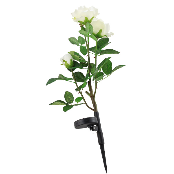 6 st ck solar led rose blume gartenleuchte solarlicht gartenlampe geschenk deko ebay. Black Bedroom Furniture Sets. Home Design Ideas