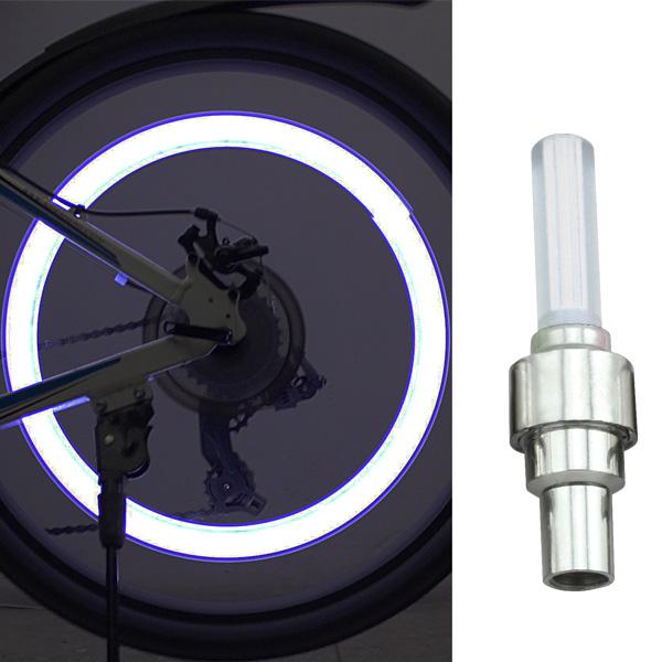 2x led felgen licht beleuchtung fahrrad auto motorrad ventilkappe reifen wei ebay. Black Bedroom Furniture Sets. Home Design Ideas