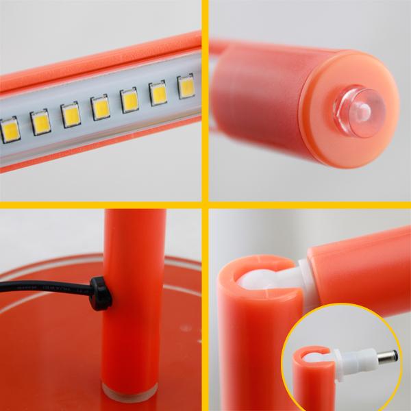 11w 4w dimmbar led smd schreibtischlampe tischlampe leselampe b roleuchte ebay. Black Bedroom Furniture Sets. Home Design Ideas