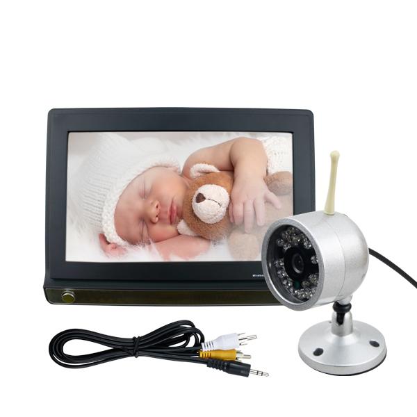 baby berwachungs funk kamera mit 7 lcd 2 4ghz monitor kamera nachtlicht ebay. Black Bedroom Furniture Sets. Home Design Ideas