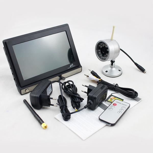 2 4ghz funk kamera nachtsicht 7 lcd baby monitor berwachungskamera 4ch ebay. Black Bedroom Furniture Sets. Home Design Ideas