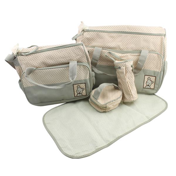 5tlg-Set-Babytasche-Pflegetasche-Tragetasche-Wickeltasche-Windeltasche-Kinder
