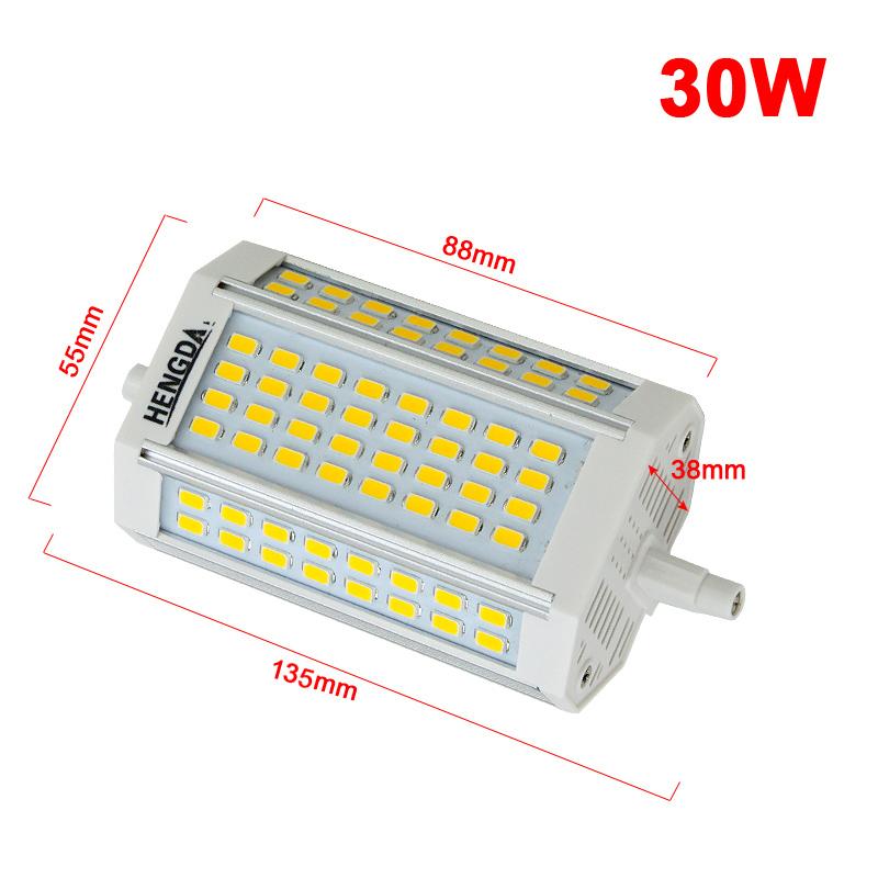 30w r7s led leuchte fluter spotlampen halogenstab wei f r. Black Bedroom Furniture Sets. Home Design Ideas
