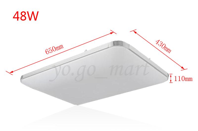 Badlampen deckenleuchte  36W-48W LED Deckenleuchte Wohnzimmer Deckenlampe Energiespar Panel ...