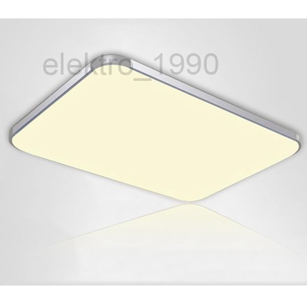 2x 48w led deckenleuchte deckenlampe badezimmer lampe energiespar k che warmwei ebay. Black Bedroom Furniture Sets. Home Design Ideas