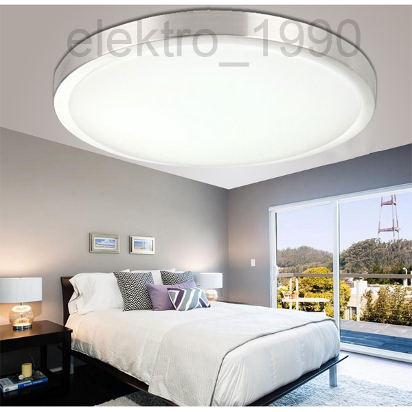 led 15w lampe k che flur decken bad deckenleuchte wohnzimmer leuchte rund wei ebay. Black Bedroom Furniture Sets. Home Design Ideas