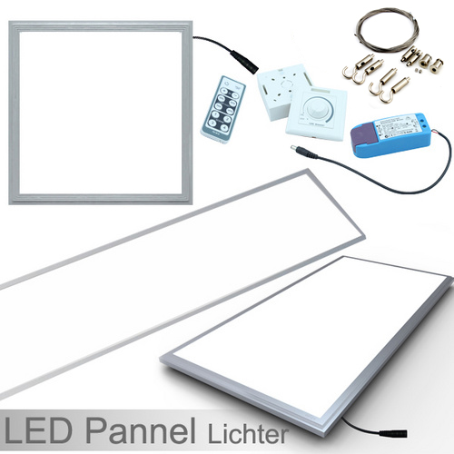 led panel 30x30 30x60 60x60 62x62 cm wei kaltwei. Black Bedroom Furniture Sets. Home Design Ideas