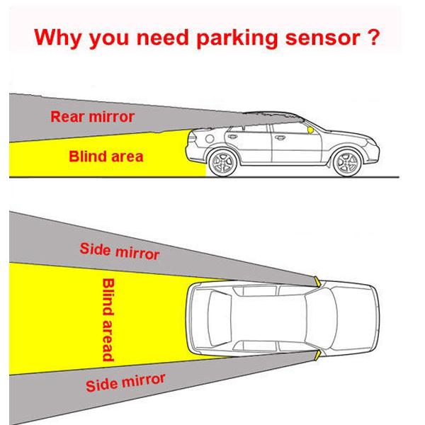 parkhilfe einparkhilfe r ckfahrwarner nachr sten hinten 8 sensoren display pdc ebay. Black Bedroom Furniture Sets. Home Design Ideas