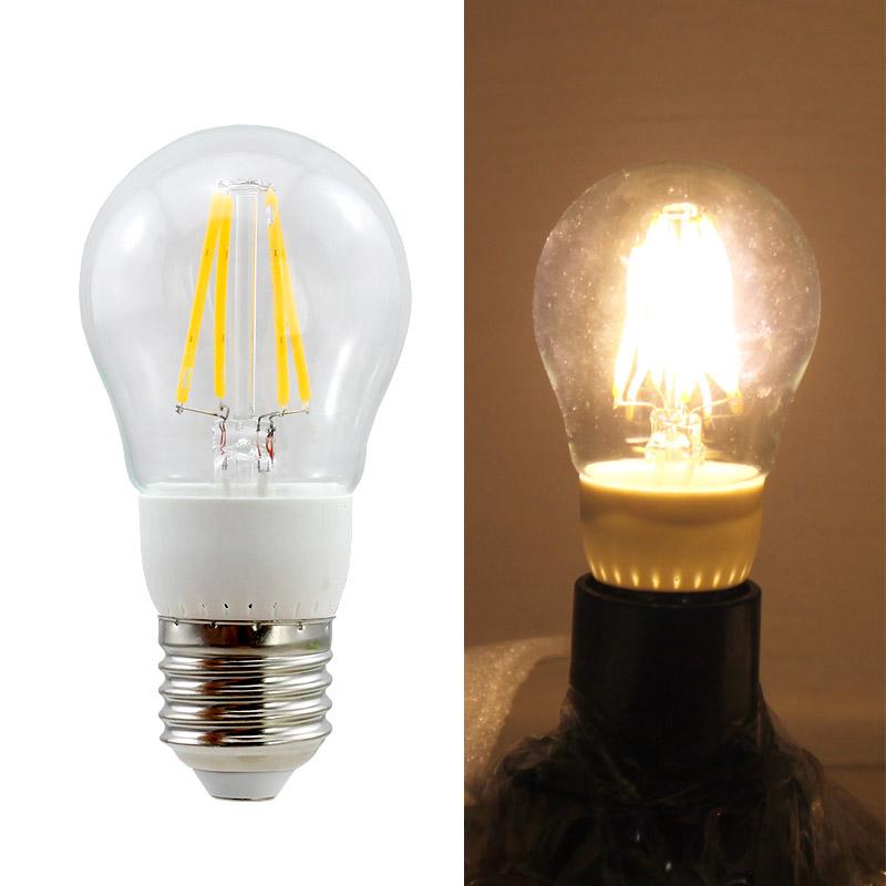 10x e27 led lampe gl hbirne birne 4w filament warmwei energiesparlampe ce ebay. Black Bedroom Furniture Sets. Home Design Ideas