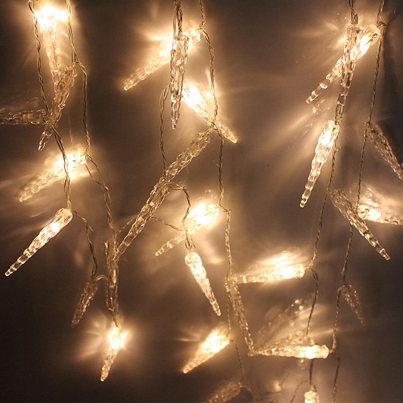 led lichterkette eisregen eiszapfen weihnachten beleuchtung warmwei kette licht ebay. Black Bedroom Furniture Sets. Home Design Ideas