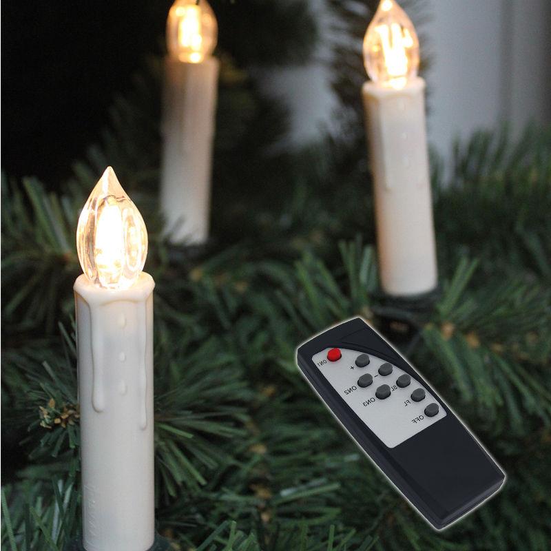 10 100x led weihnachtskerzen lichterkette fernbedienung farbwechsel kabellos neu ebay. Black Bedroom Furniture Sets. Home Design Ideas