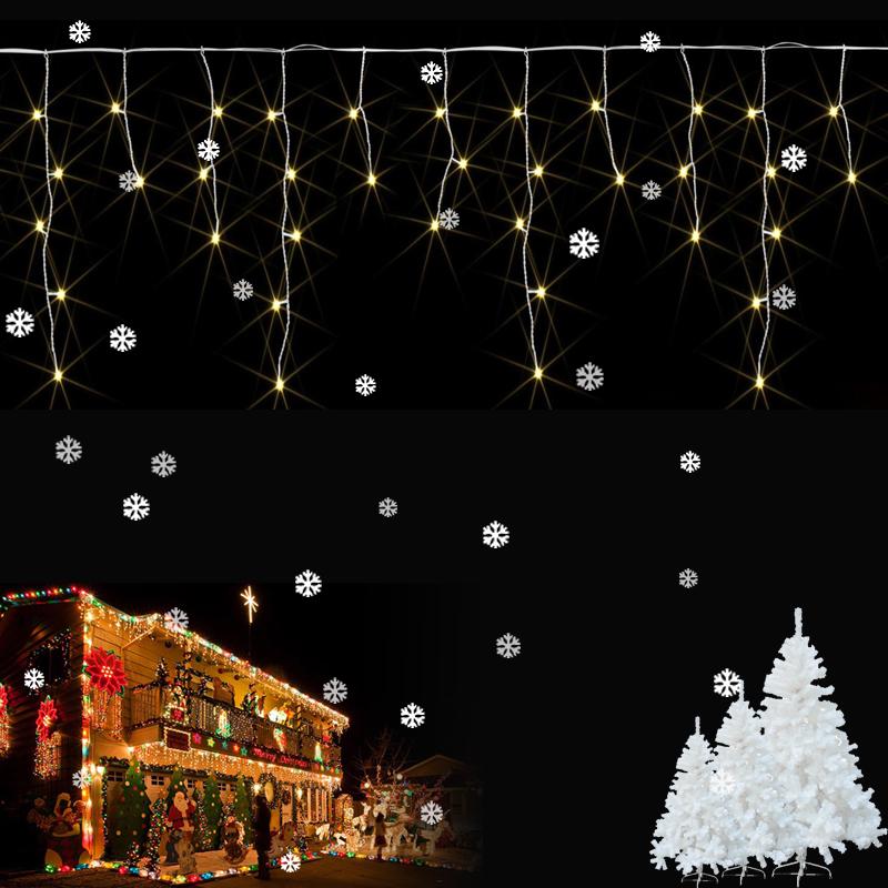 led eiszapfen weihnachten 400 leds lichterkette weihnachtsbeleuchtung au en neu ebay. Black Bedroom Furniture Sets. Home Design Ideas