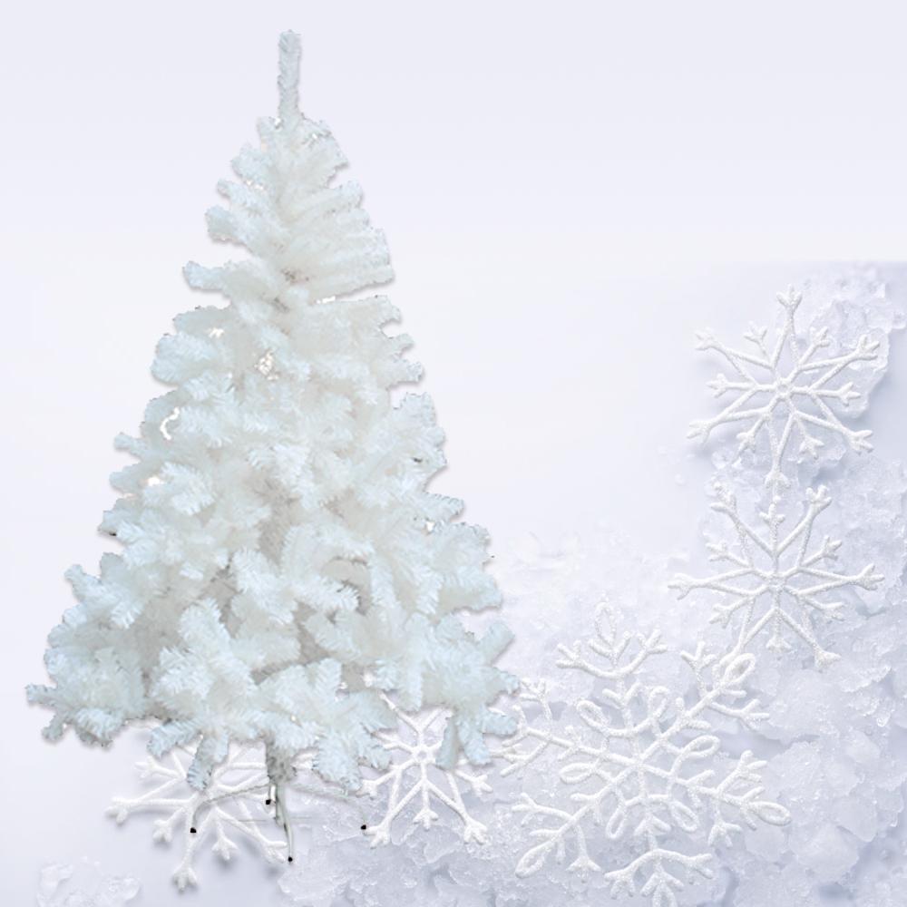 christbaum 220cm wei er k nstlicher weihnachtsbaum kunstbaum tannenbaum innen ebay. Black Bedroom Furniture Sets. Home Design Ideas