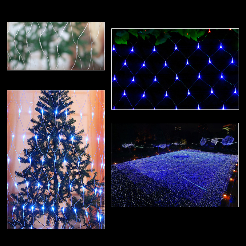 3 3m led lichternetz lichterkette weihnachten lichter netz. Black Bedroom Furniture Sets. Home Design Ideas