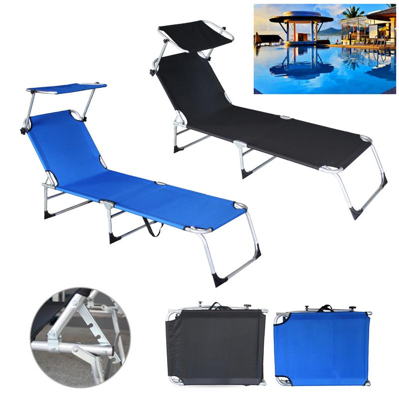 1 4x alu sonnenliege gartenliege relaxliege mit dach 189cm. Black Bedroom Furniture Sets. Home Design Ideas