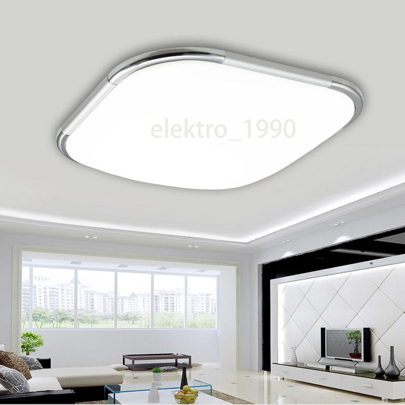 led deckenleuchte deckenlampe 12 96w wohnzimmer badleuchte dimmbar k chen lampe ebay. Black Bedroom Furniture Sets. Home Design Ideas