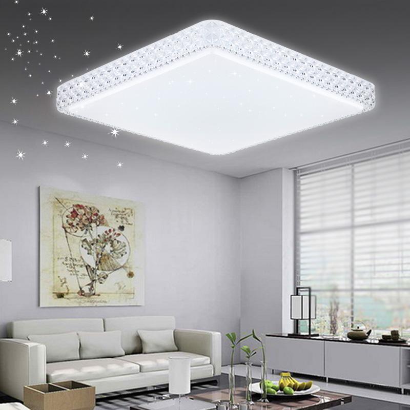 60W Weiss LED Deckenleuchte Starlight Kristall Deckenlampe Flurleuchte
