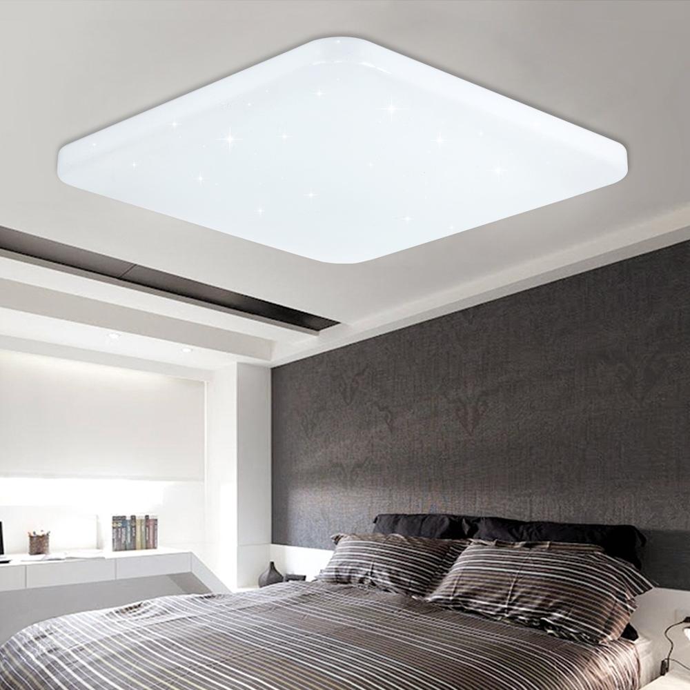 60w eckig wei led deckenleuchte starlight flur wohnzimmer for Fenster 50x50