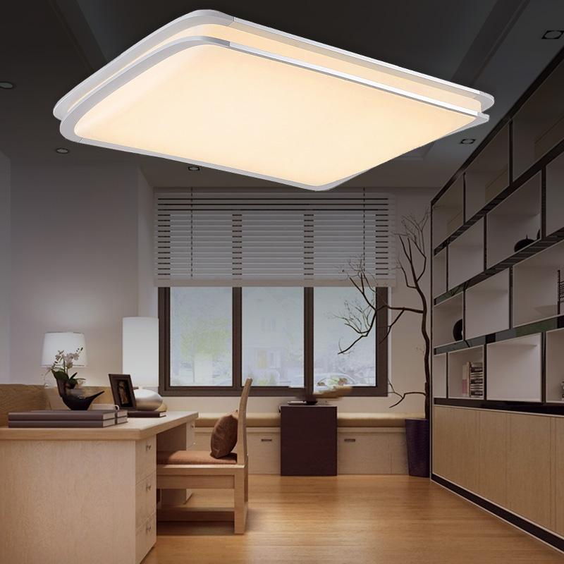 led deckenlampe 48w deckenbeleuchtung designleuchte panel lampe flur warmwei ebay. Black Bedroom Furniture Sets. Home Design Ideas