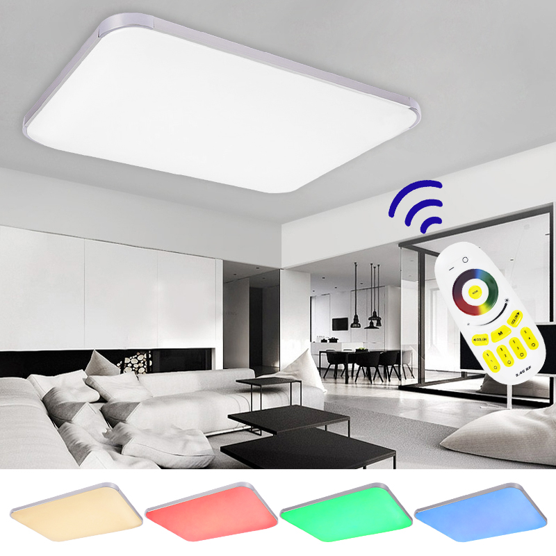 25w 90w rgb led deckenleuchte dimmbar deckenlampe wandlampe wohnzimmer k che ebay. Black Bedroom Furniture Sets. Home Design Ideas