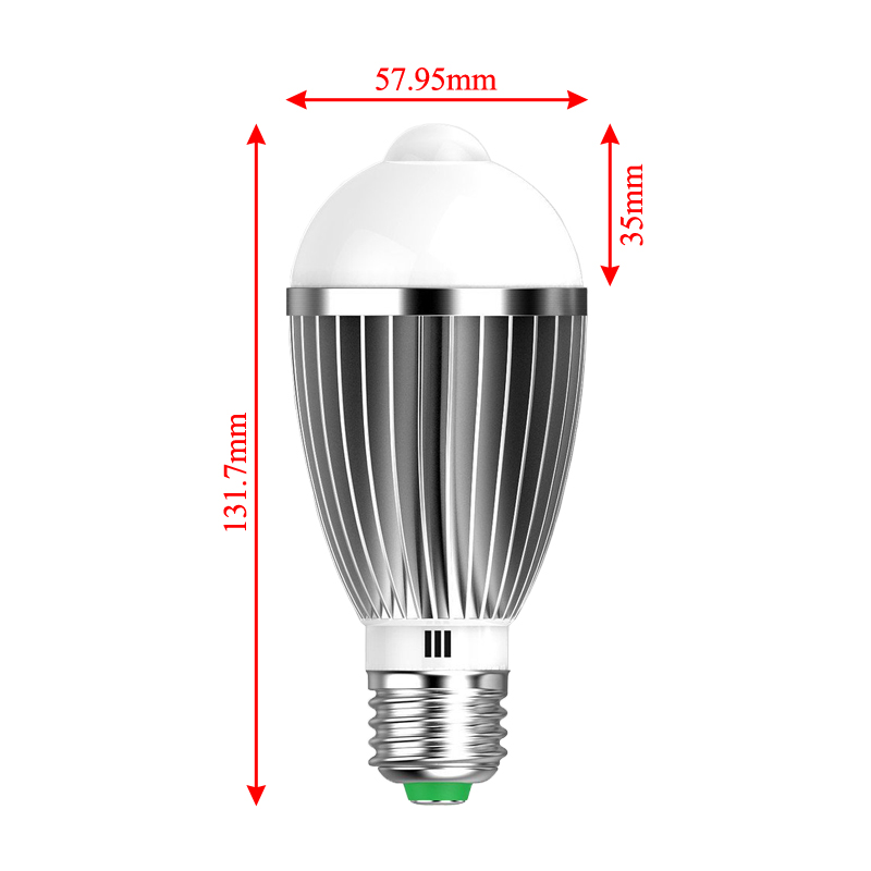 7w warmwei e27 led birne gl hbirne mit bewegungsmelder pir sensor lampe licht ebay. Black Bedroom Furniture Sets. Home Design Ideas
