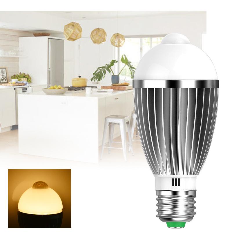 7w warmwei e27 led birne gl hbirne mit bewegungsmelder pir sensor lampe licht ebay. Black Bedroom Furniture Sets. Home Design Ideas