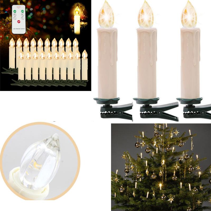 100x kabellose led mini christbaumkerzen licht - Kabellose christbaumkerzen mini ...