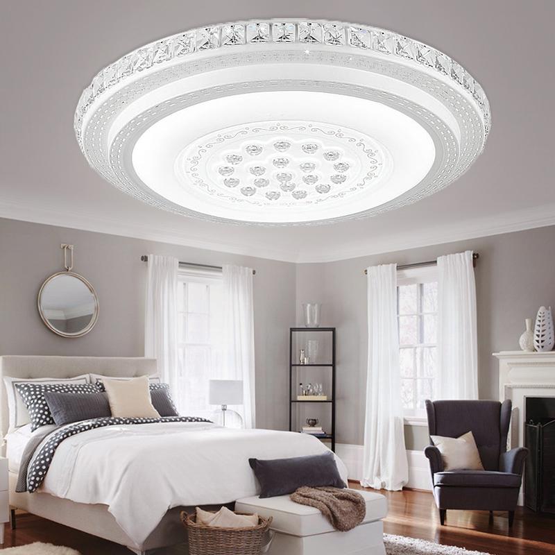 led kristall deckenleuchte wohnzimmer deckenlampe badleuchte dimmbar panel flur ebay. Black Bedroom Furniture Sets. Home Design Ideas