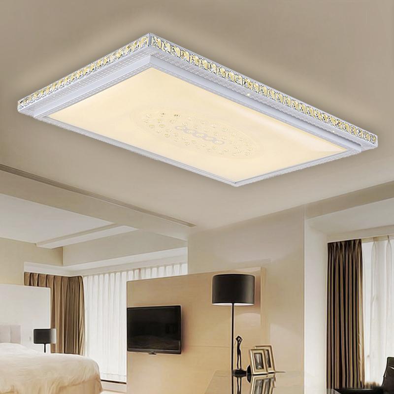 kristall deckenleuchte led deckenlampe schlafzimmer wandlampe dimmbar 36w 64w ebay. Black Bedroom Furniture Sets. Home Design Ideas