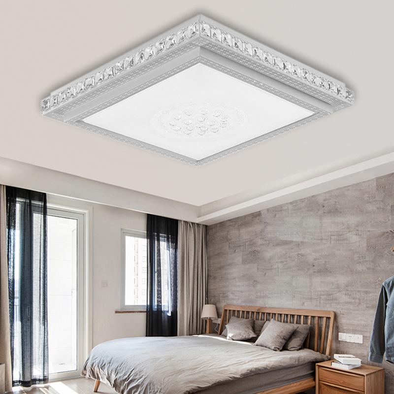 36w 64w led eckig kristall deckenleuchte schlafzimmer. Black Bedroom Furniture Sets. Home Design Ideas