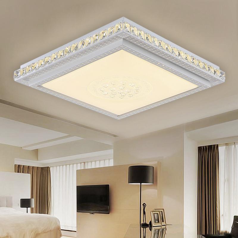 36W 64W LED Eckig Kristall Deckenleuchte Schlafzimmer